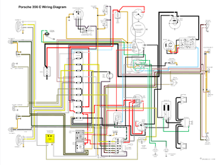porsche356 porsche 911 dash wiring typ 356 c alt wiring diagram ver 4 032c overview