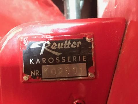 Porsche reutter karosserie number