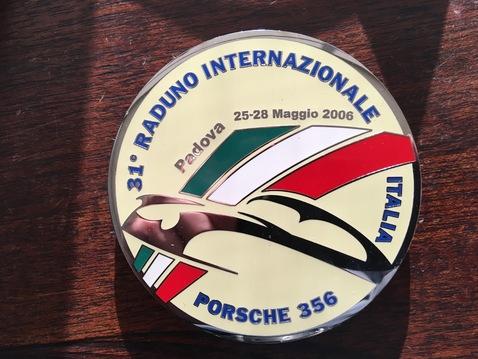 Porsche badge emblem italia