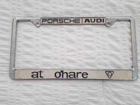 Porsche lic plate frame o'hare %281%29