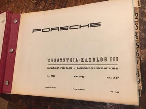 Parts catalog open