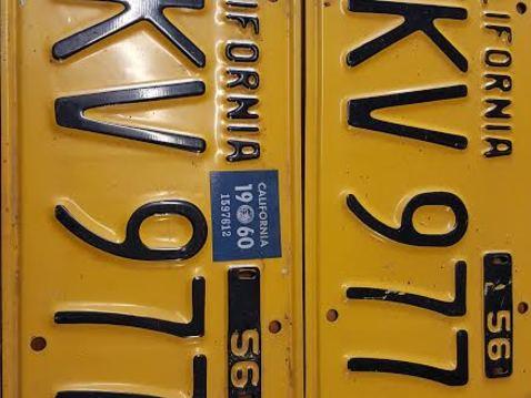 Cal yellow plates