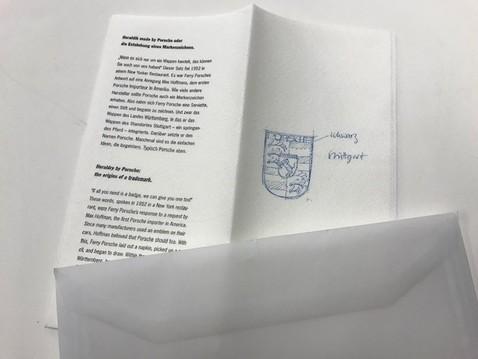 Ferry porsche napkin