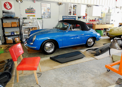 Blue 356 w red chair